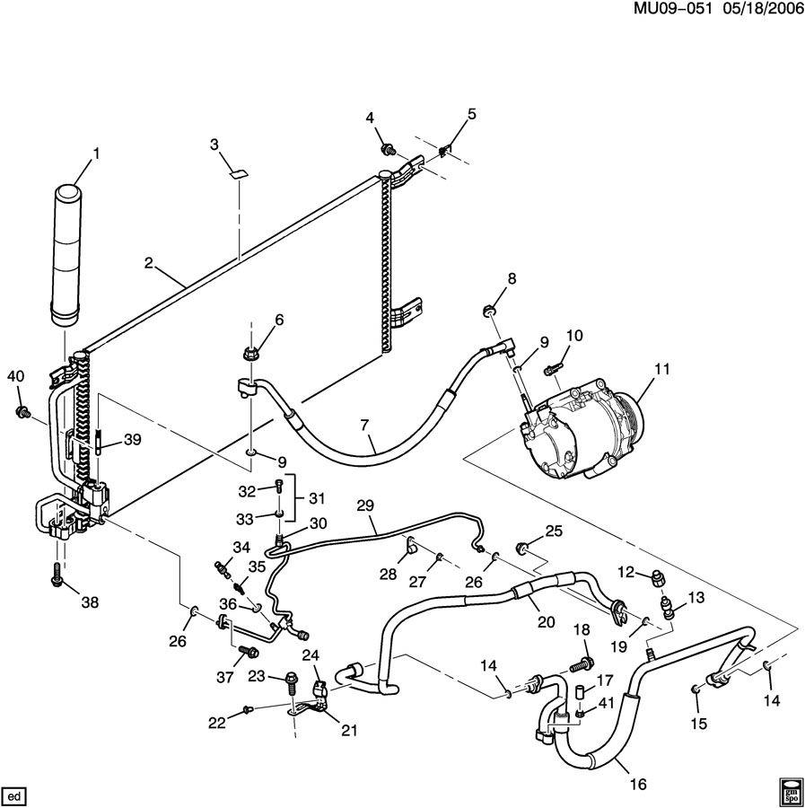 2001 Pontiac MONTANA A/C REFRIGERATION SYSTEM PART 1 FRONT