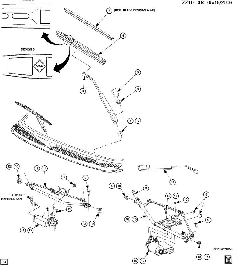 Service manual [Wiper Arm Installation 1999 Saturn S