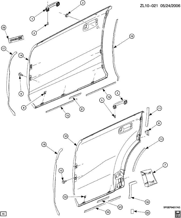 DOOR/FRONT & REAR EXTERIOR PANELS