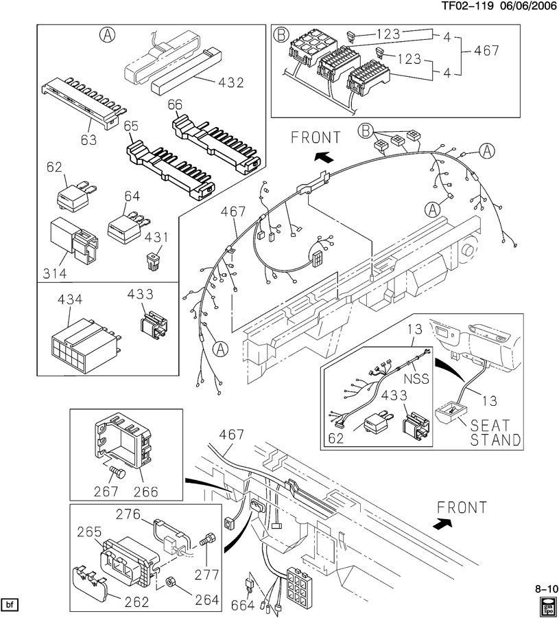 Gmc t6500 wiring