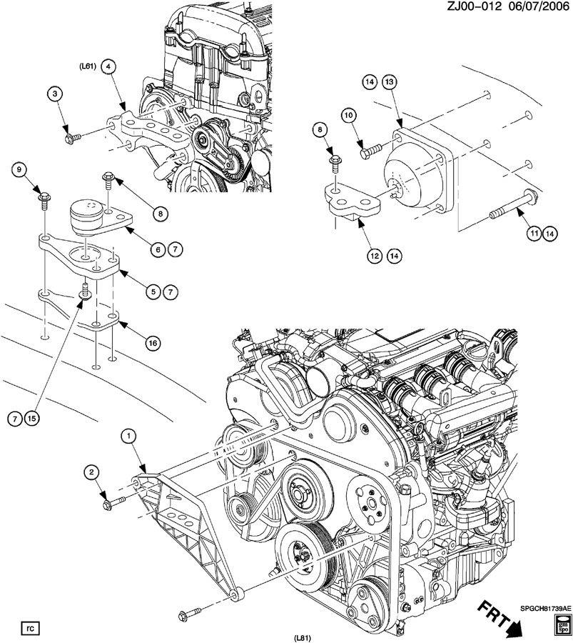 J ENGINE MOUNTING;