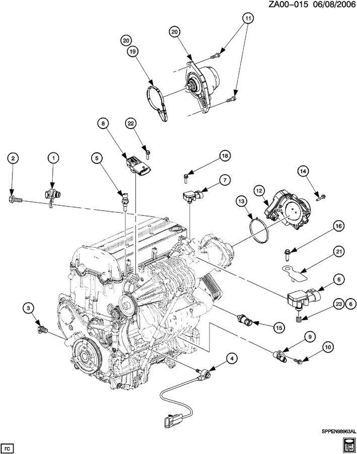 ENGINE ASM-2.0L L4 CONTROL SENSORS