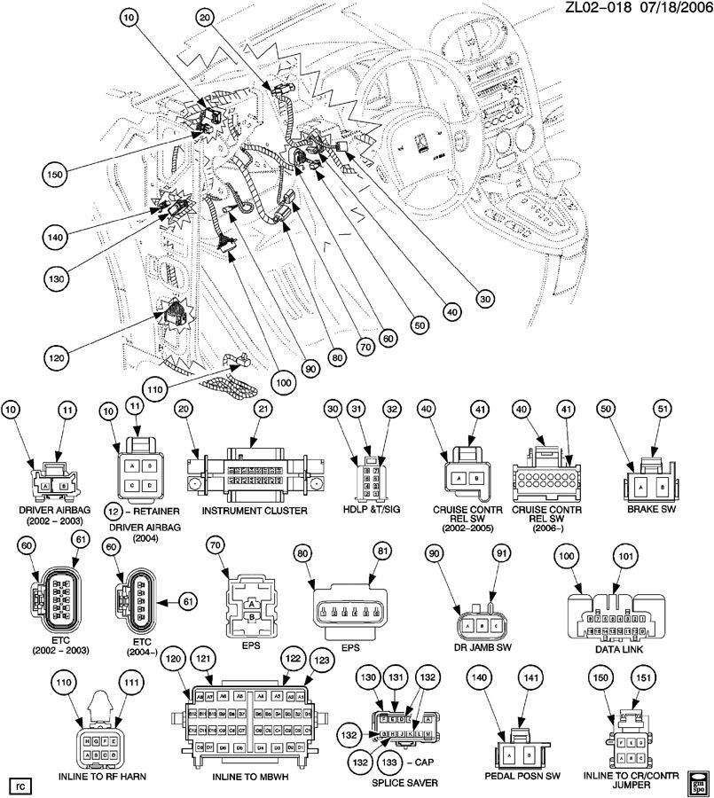 2007 saturn vue instrument panel wiring diagram