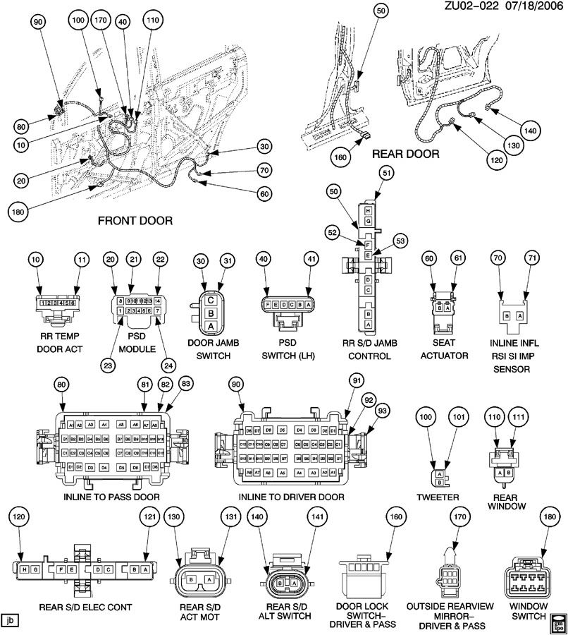 2007 gmc acadia radio wiring diagram
