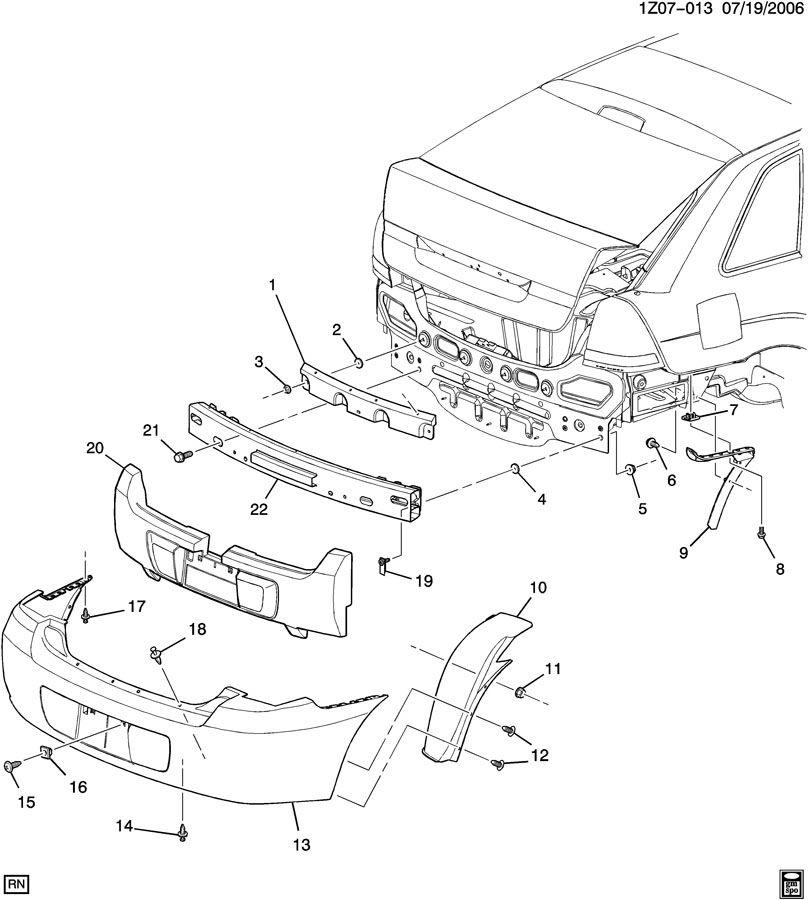 2006 Chevrolet Malibu BUMPER/REAR