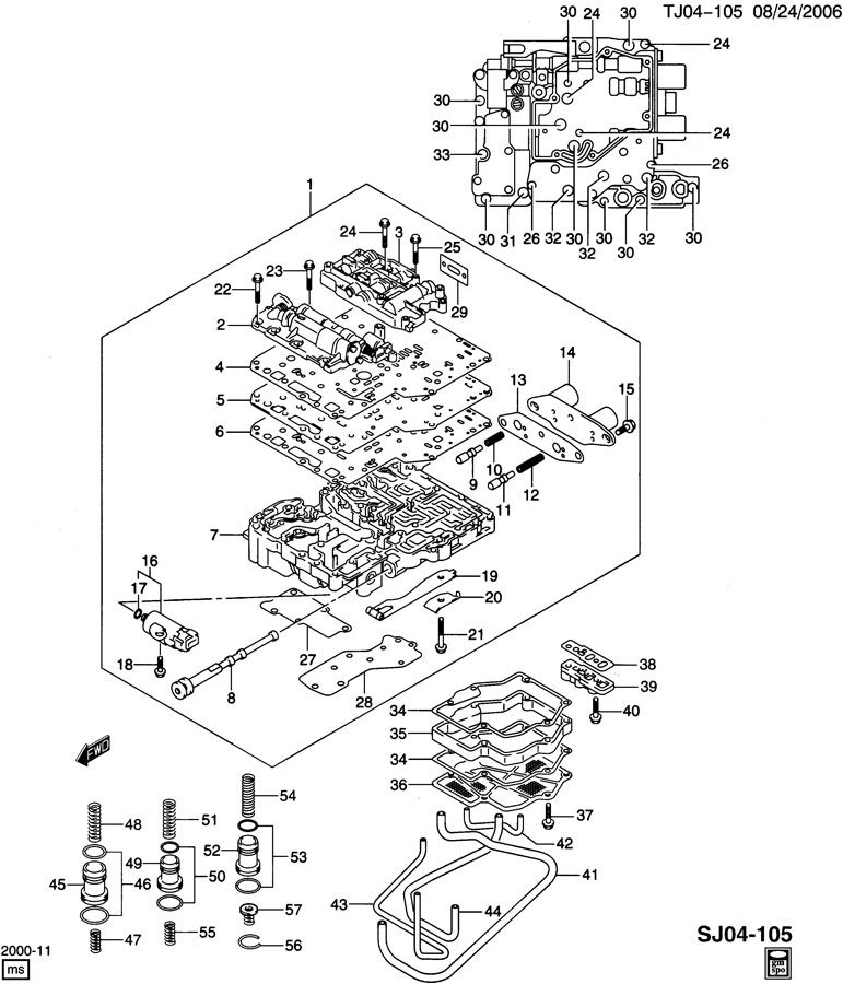 AUTOMATIC TRANSMISSION VALVE BODY, CONTROL VALVES, & FLUID