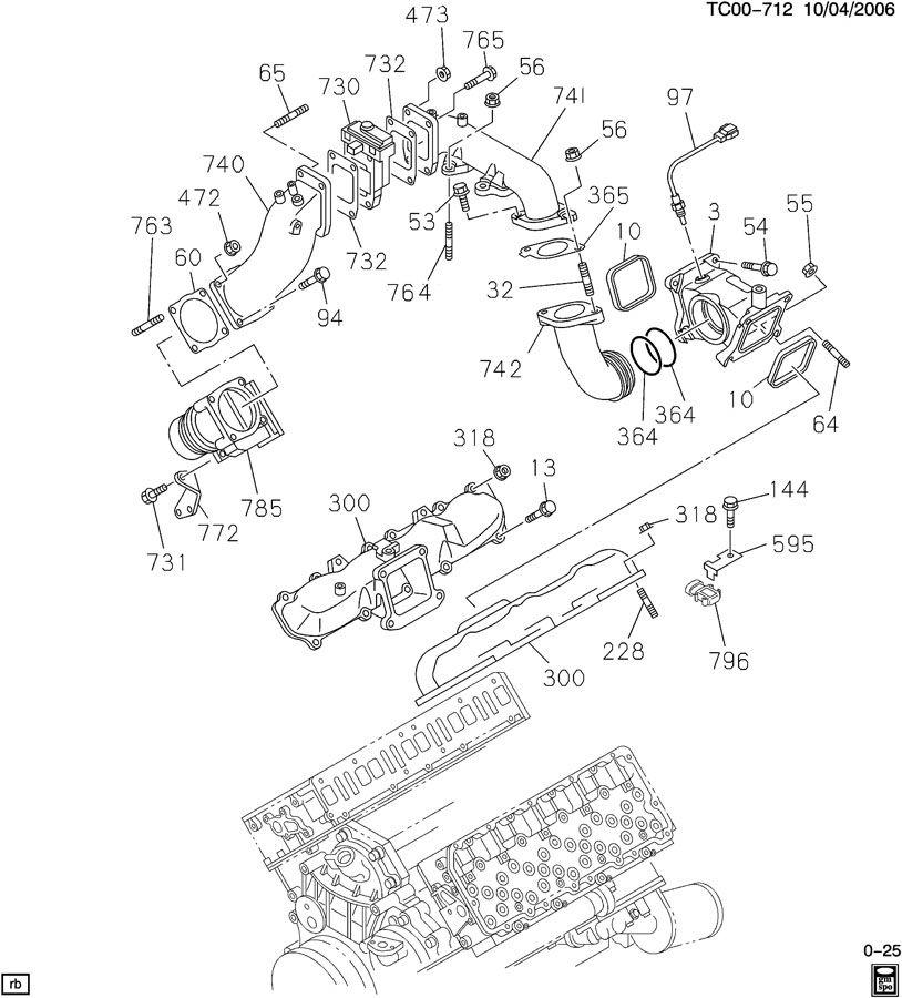 ENGINE ASM-6.6L V8 DIESEL INTAKE MANIFOLD