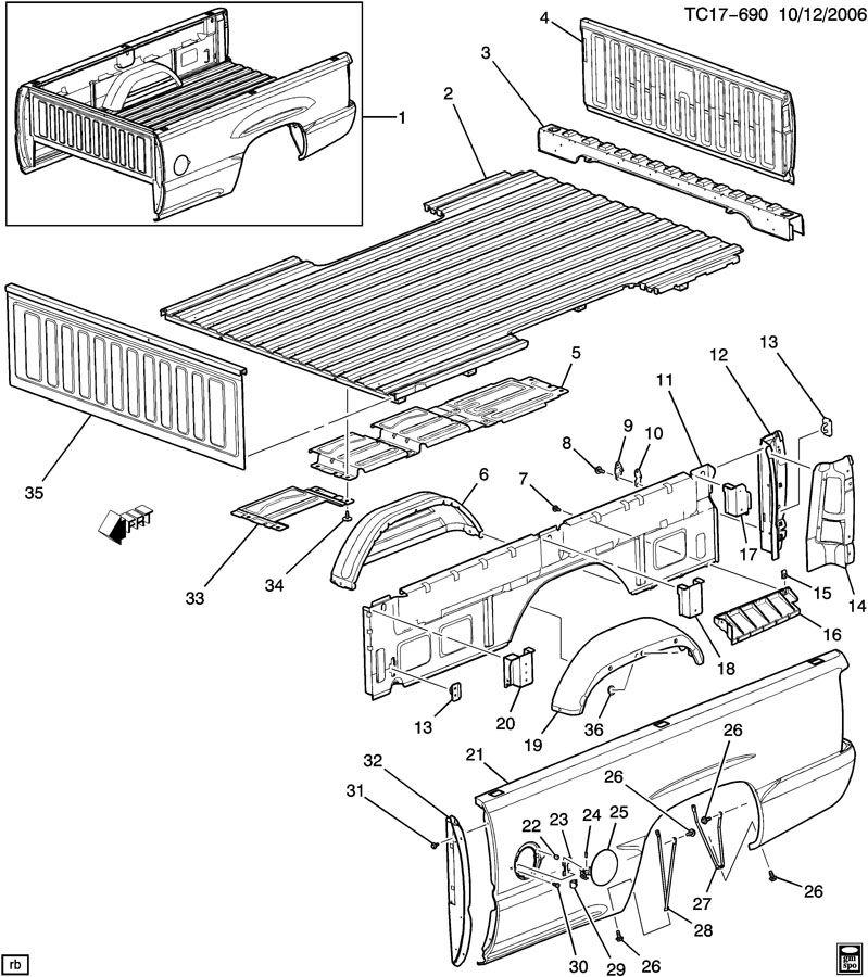 2008 gmc w3500 fuse box diagram