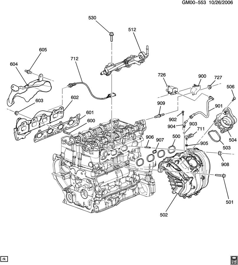 ENGINE ASM-2.2L L4 PART 5 MANIFOLDS & FUEL RELATED PARTS