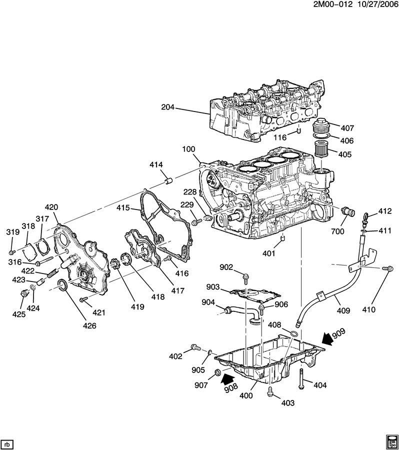 ENGINE ASM-2.4L L4 PART 5 OIL PUMP,PAN & RELATED PARTS