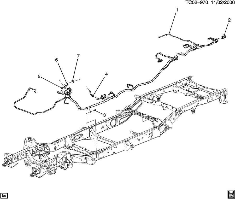 2008 Chevrolet SUBURBAN WIRING HARNESS/CHASSIS