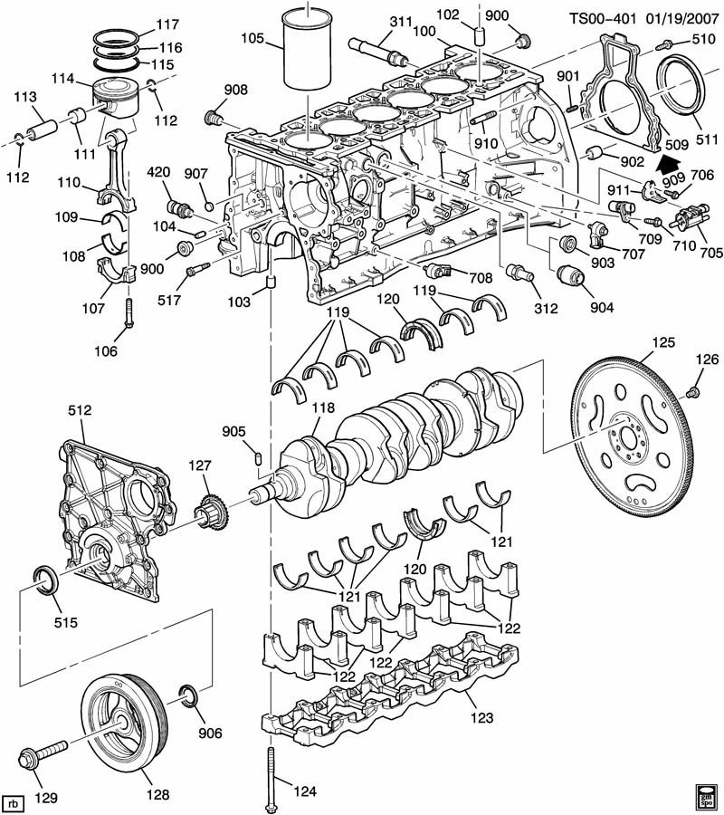 ENGINE ASM-4.2L L6 PART 1 BLOCK AND INTERNAL PARTS