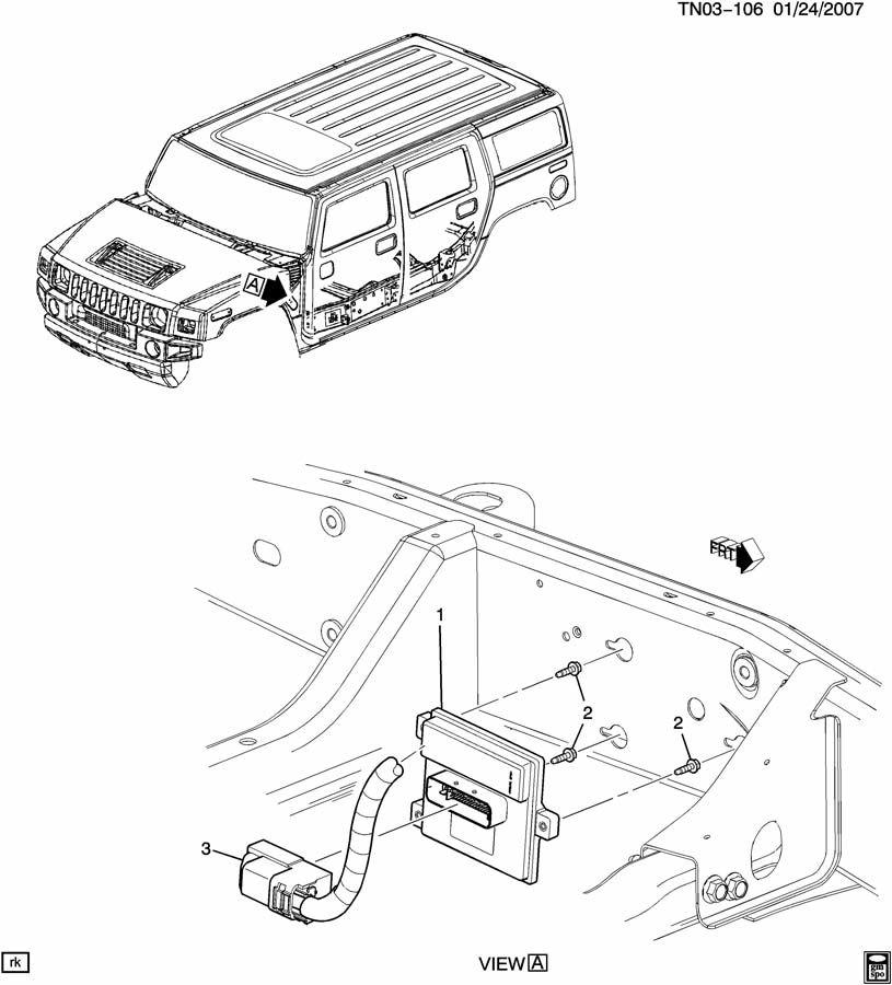 Service manual [Replace 2007 Hummer H2 Air Bag Module