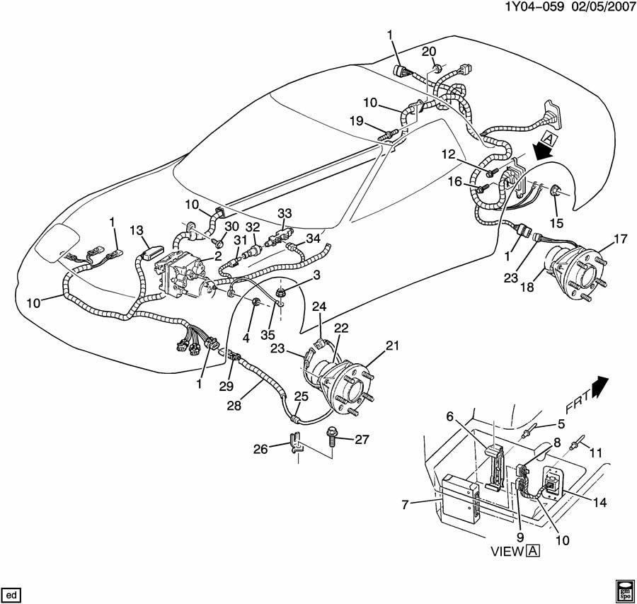 2000 Chevrolet Corvette BRAKE ELECTRICAL SYSTEM/ANTILOCK