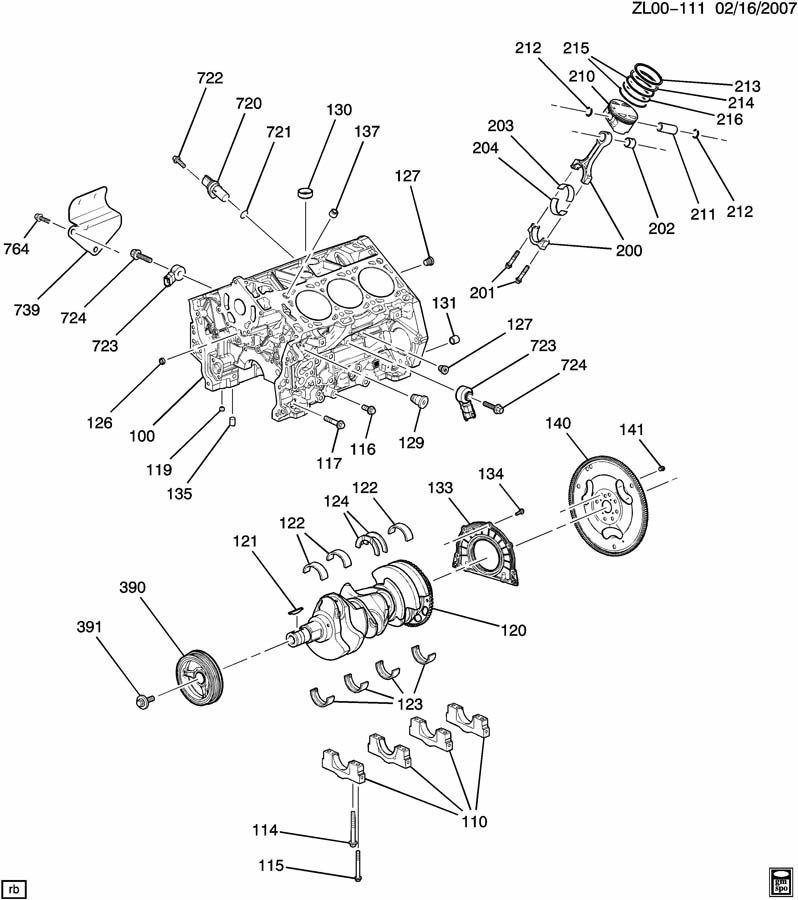 ENGINE ASM-3.6L V6 PART 1 CYLINDER BLOCK & INTERNAL PARTS