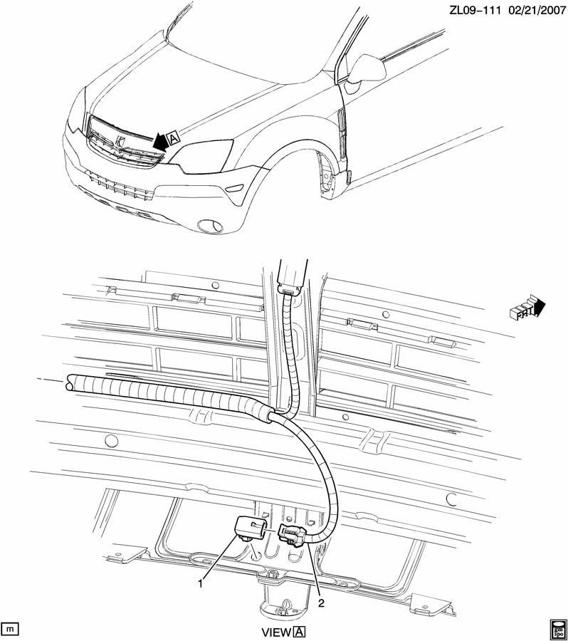 Sensor Ambient Outside Air Temperature 2011 Chevrolet