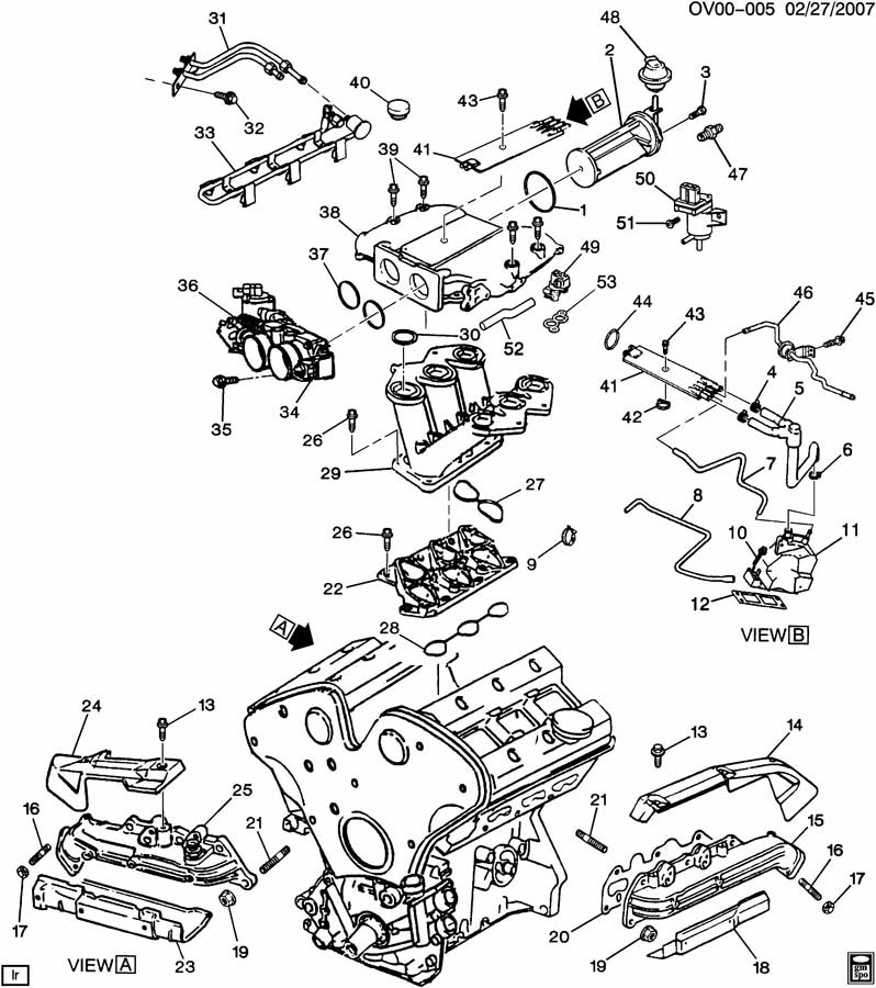 ENGINE ASM-3.0L V6 PART 5 MANIFOLDS AND FUEL RELATED PARTS