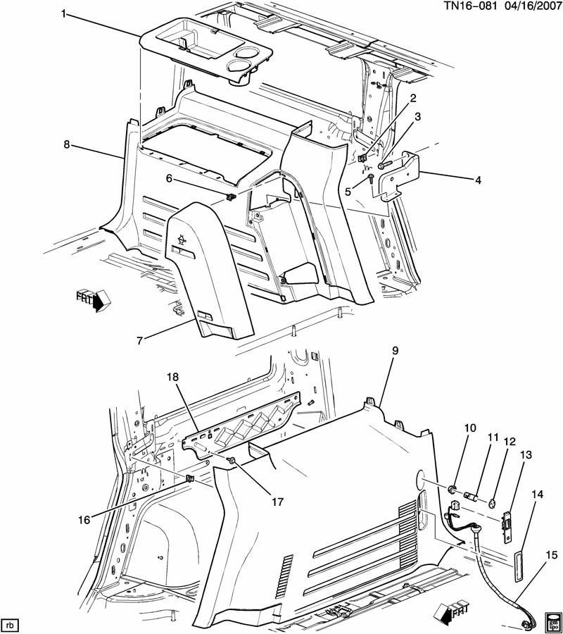 2009 Hummer H2 TRIM/INTERIOR-BODY SIDE-QUATER DETAIL