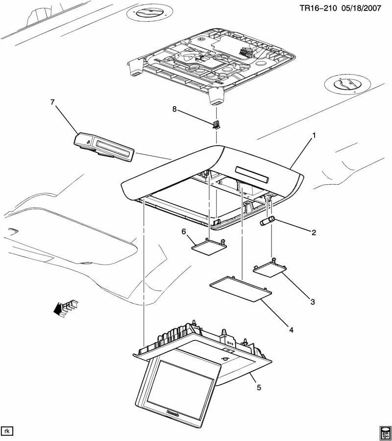 TRIM/INTERIOR-ROOF PART 3 CENTER CONSOLE