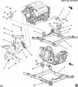 Cadillac northstar v8 engine diagram