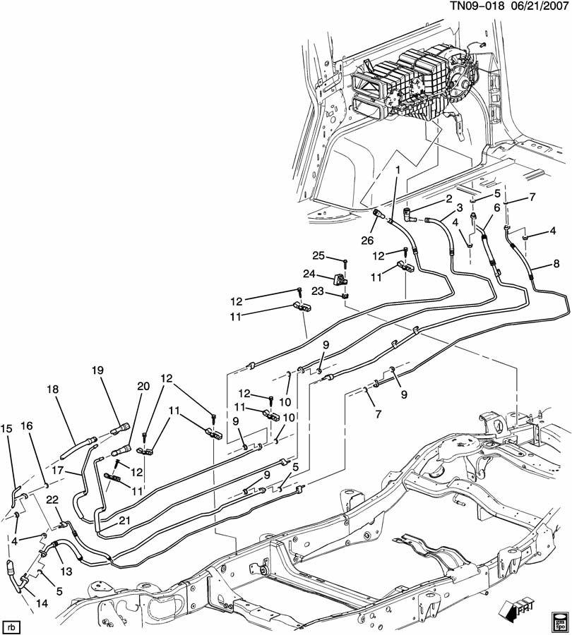 Hummer H2 A/C REFRIGERATION SYSTEM/REAR; HOSES & PIPES