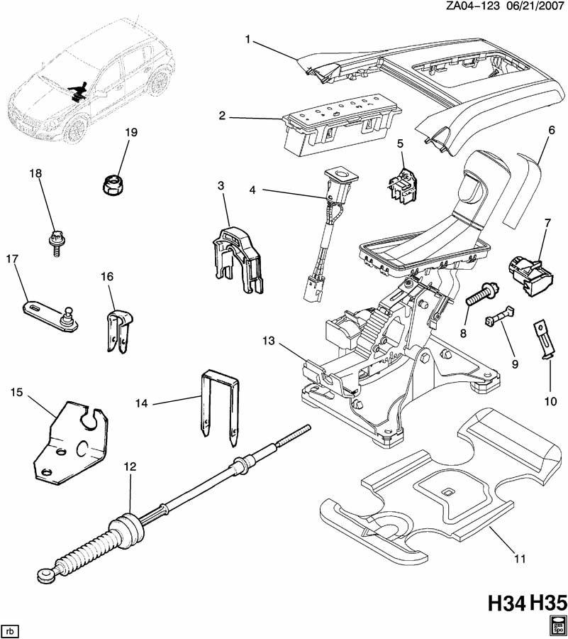 Saturn Astra SHIFT CONTROL/AUTOMATIC TRANSMISSION