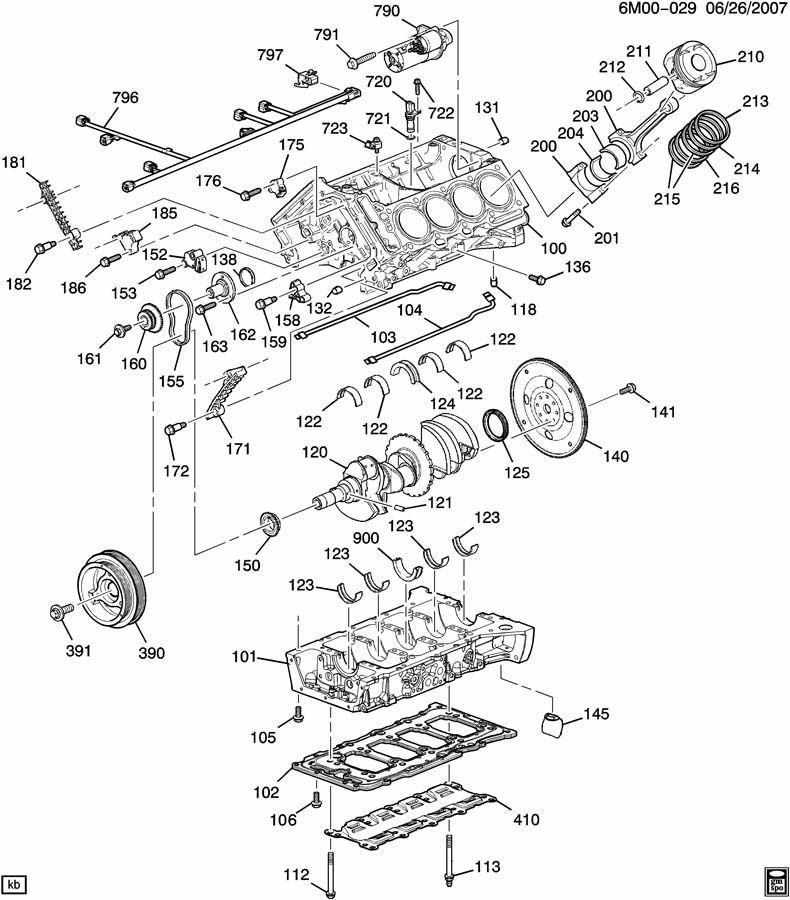 ENGINE ASM-4.6L V8 PART 1 CYLINDER BLOCK & INTERNAL PARTS