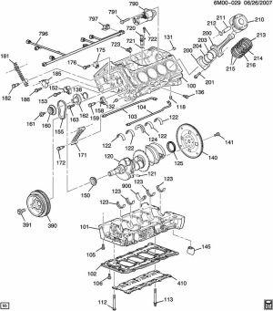 ENGINE ASM46L V8 PART 1 CYLINDER BLOCK & INTERNAL PARTS