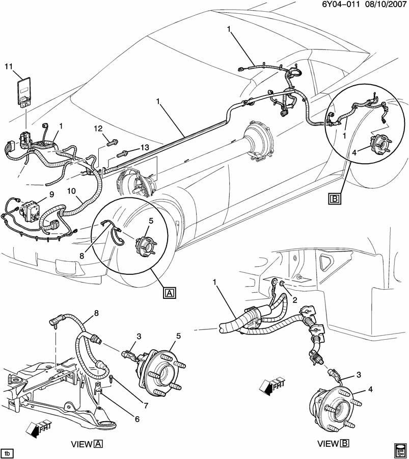 2006 Cadillac XLR BRAKE ELECTRICAL SYSTEM/ANTILOCK