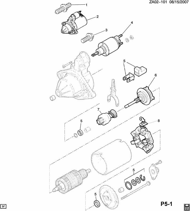 Saturn Astra STARTER MOTOR & MOUNTING