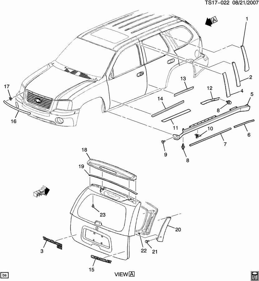 GMC Tailgate Parts Diagram. GM. Wiring Diagrams Instructions