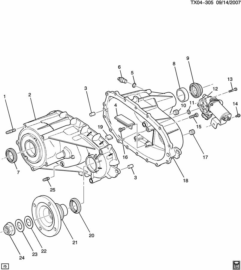 Service manual [Remove Transfer Case 2007 Hummer H3
