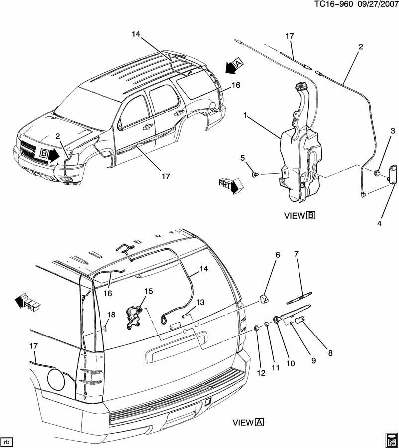 Chevrolet SUBURBAN WIPER SYSTEM/REAR WINDOW