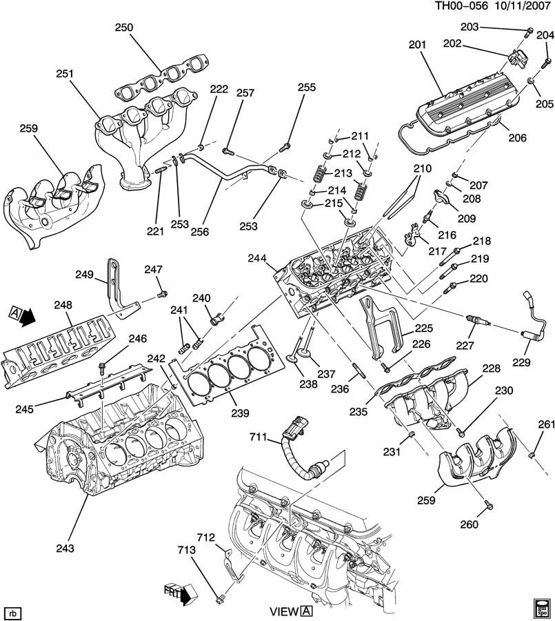 GM ENGINE ASM-8.1L V8 PART 2 CYLINDER HEAD & RELATED PARTS