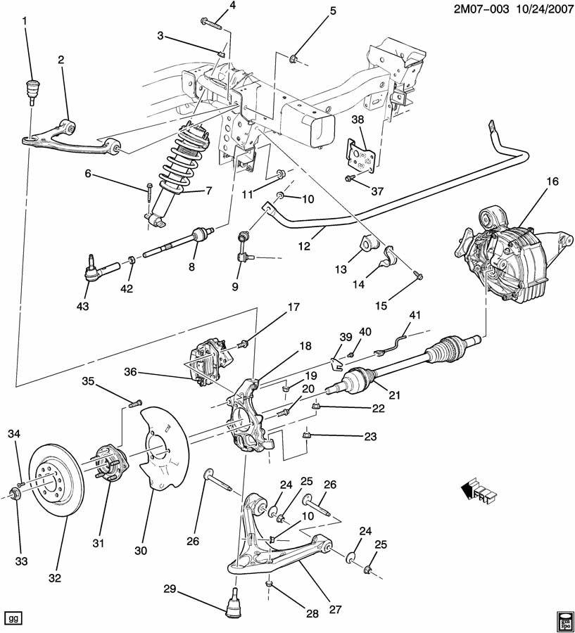 Pontiac Solstice SUSPENSION/REAR PART 1