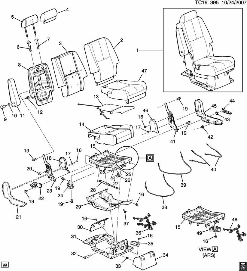 NEW GENUINE GM 15269776 Rear Left Seat Riser 1526-9776