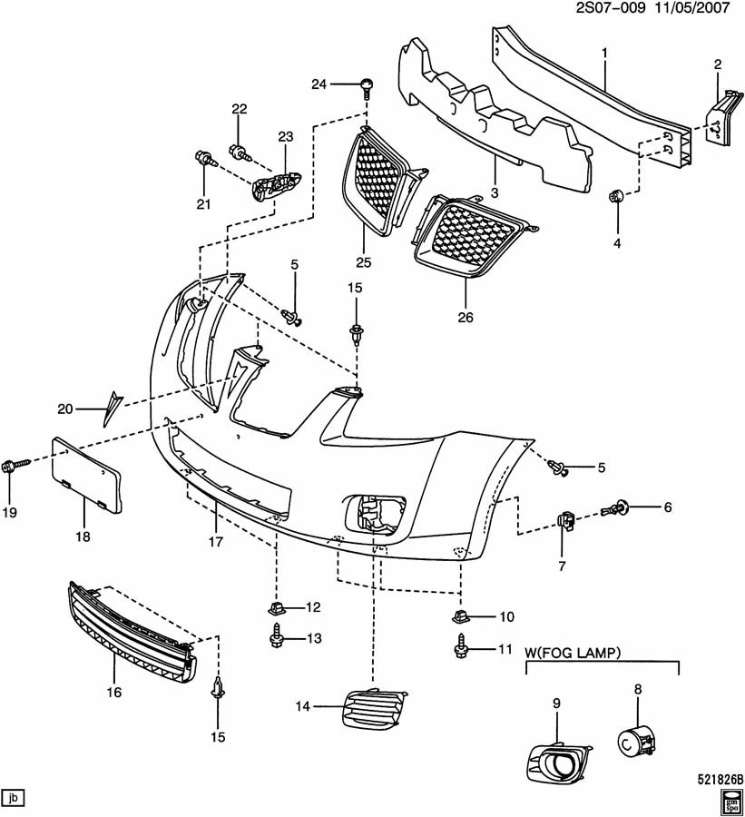 BUMPER/FRONT & RELATED PARTS
