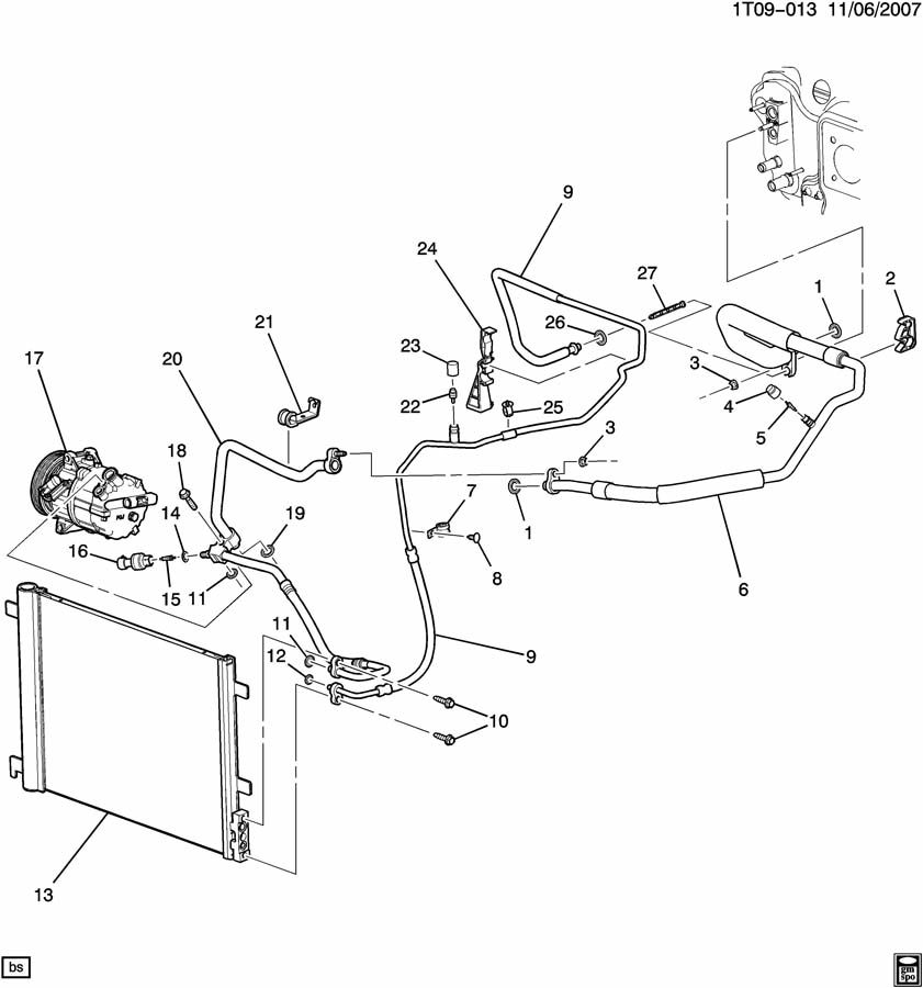 Pontiac Vibe Parts Diagram Cooling System Auto. Pontiac