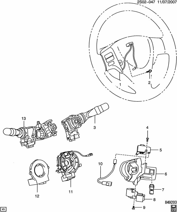 INSTRUMENT PANEL SWITCHES-IGNITION, SIR COIL, POSITION