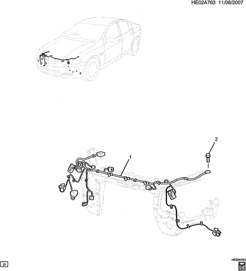 E WIRING HARNESS/FRONT COMPARTMENT; E19 WIRING HARNESS
