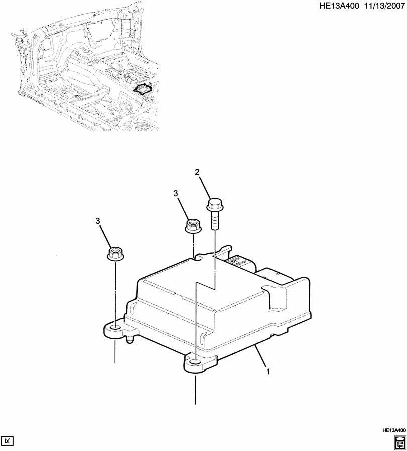 2009 Pontiac G8 E INFLATABLE RESTRAINT SYSTEM/CONTROL MODULE;