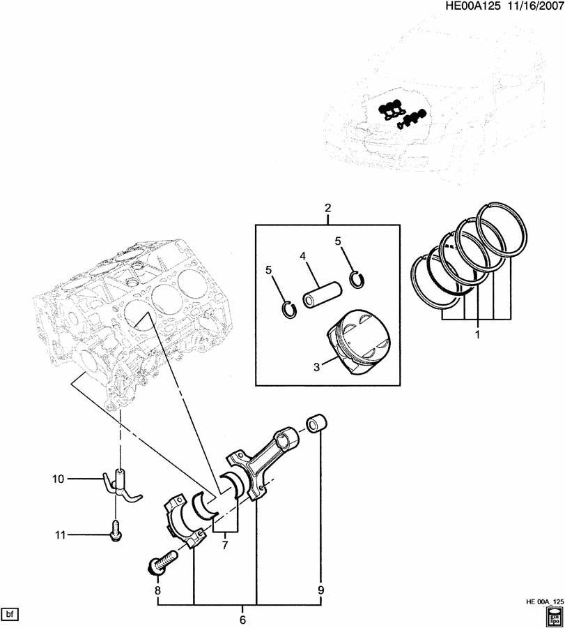 ENGINE ASM-3.6L V6 PISTON