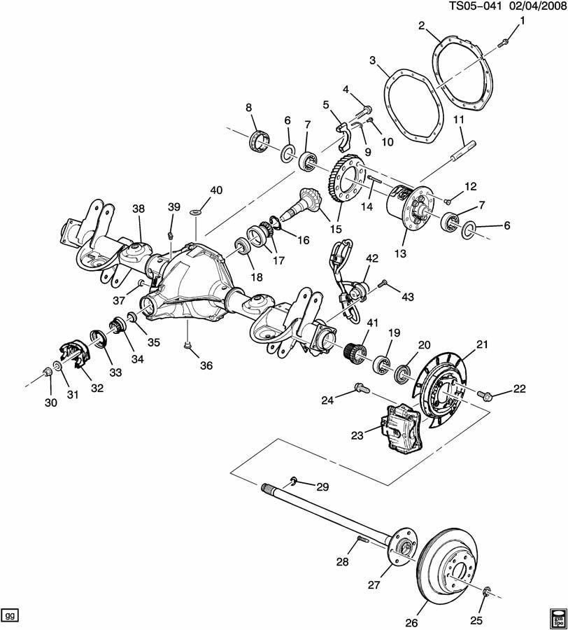 2000 silverado front axle diagram