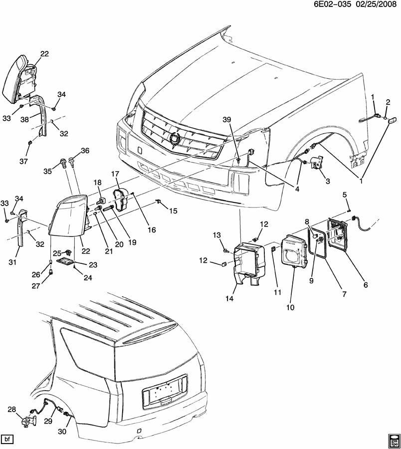 Cadillac SRX LAMPS/FRONT