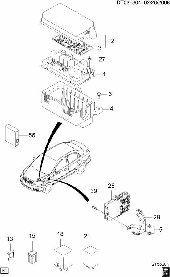Chevrolet Aveo MODULE BOX FUSE & RELAY