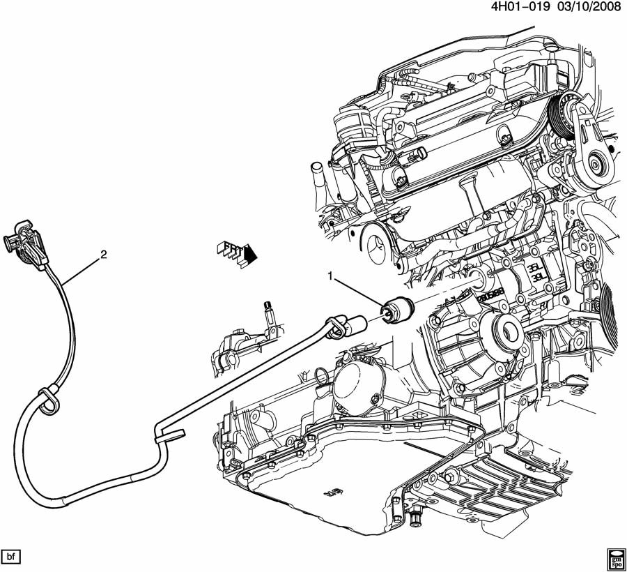 2010 Buick Lucerne ENGINE BLOCK HEATER