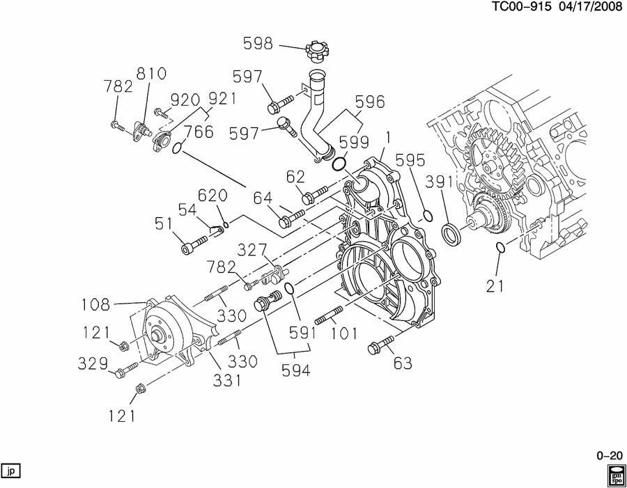 CK2,3 ENGINE ASM-6.6L V8 DIESEL TIMING GEAR CASE & OIL