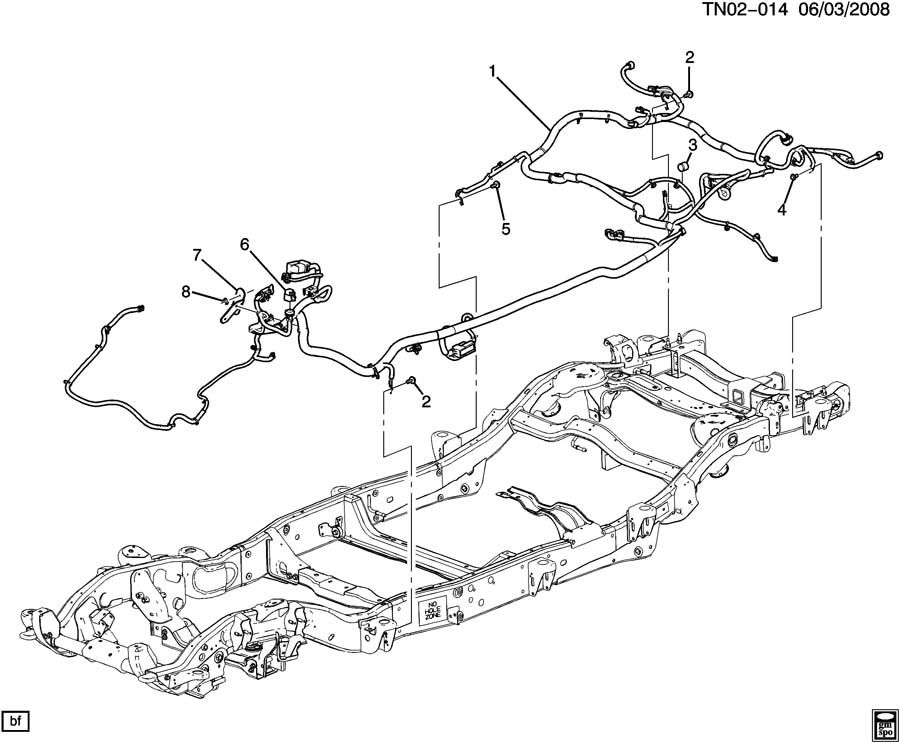 Hummer H2 N2 WIRING HARNESS/CHASSIS;