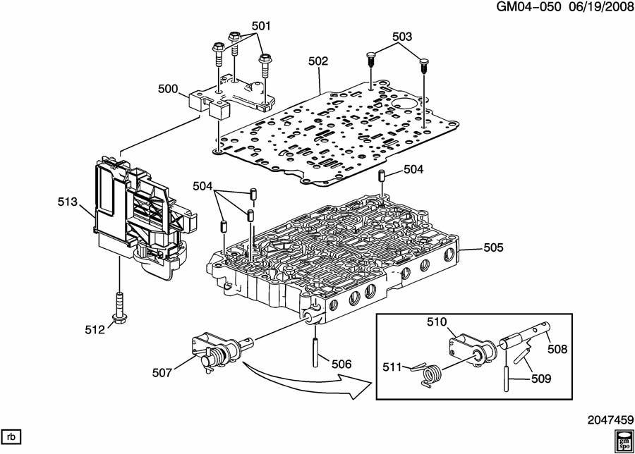 AUTOMATIC TRANSMISSION PART 1 4ET50 CONTROL VALVE BODY