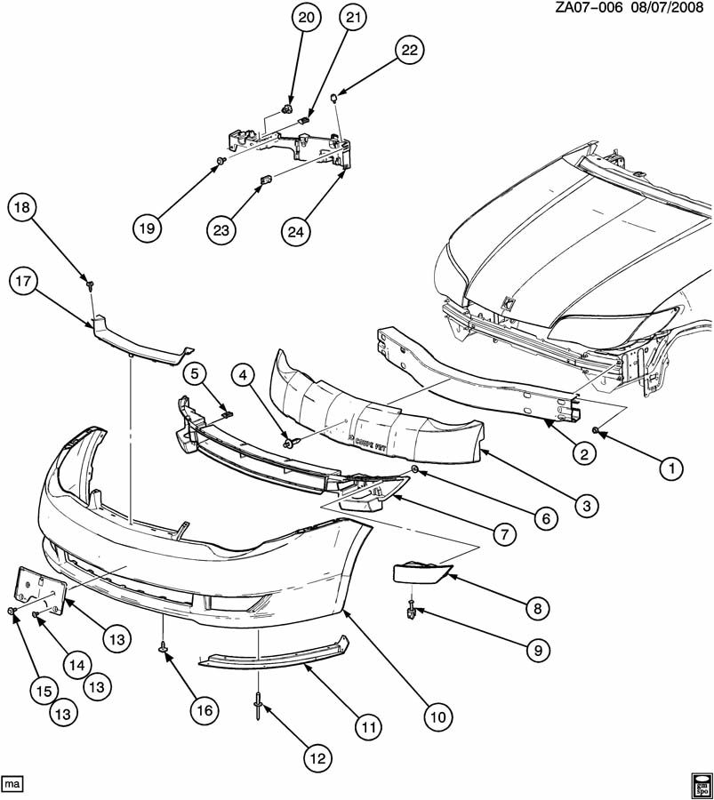 Saturn Aura Bumper Parts Diagram Auto Wiring. Saturn. Auto